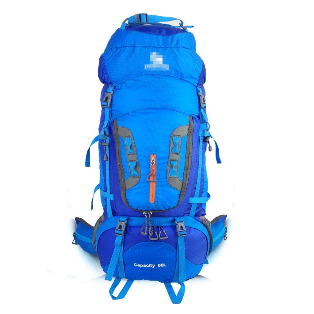COZY HOME AAA Outdoor-Sporttasche, Atmungsaktiv Große Kapazität Reisen Schulter Klettertasche 80L (Kapazität : 80L, Farbe : Blau)