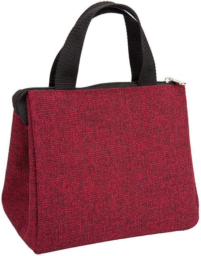 赤い格子ポータブルランチバッグ断熱バッグアイスパックアルミ箔断熱バッグピクニックバッグ
