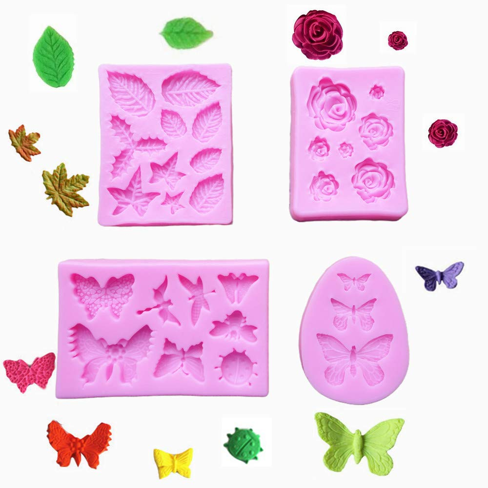 Dragonfly Insect Silicone Mold Clay Resin DIY Fondant Chocolate Candy Cake Decor
