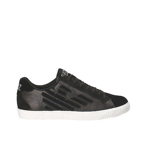 Emporio Armani EA7 Zapatos Zapatillas de Deporte Mujer en Ante Nuevo Pride Metal Negro EU 37.13 248008 7A299 00020: Amazon.es: Zapatos y complementos