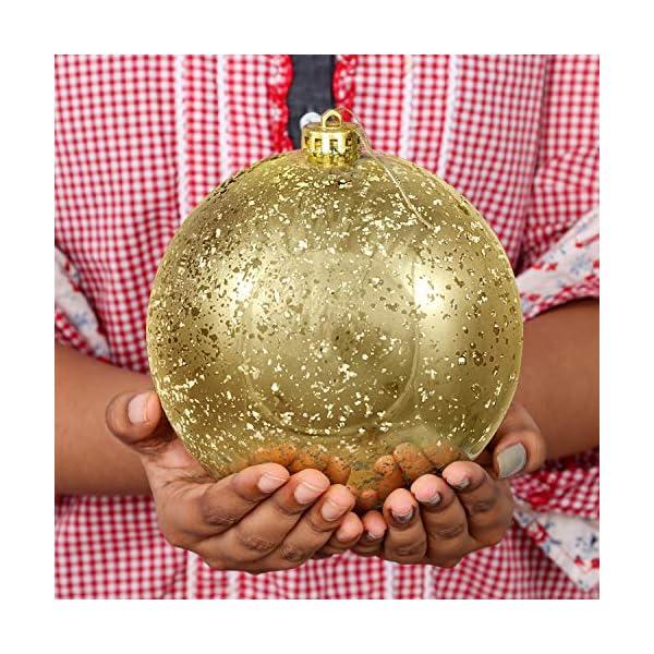 Palline di Natale Oro (Set da 2) - Palle di Natale Oro Grandi 15cm con Corda - Decorazioni Albero di Natale Oro in Plastica Infrangibile - Palline di Natale Dorate per Albero - Decorazioni Natalizie 3 spesavip