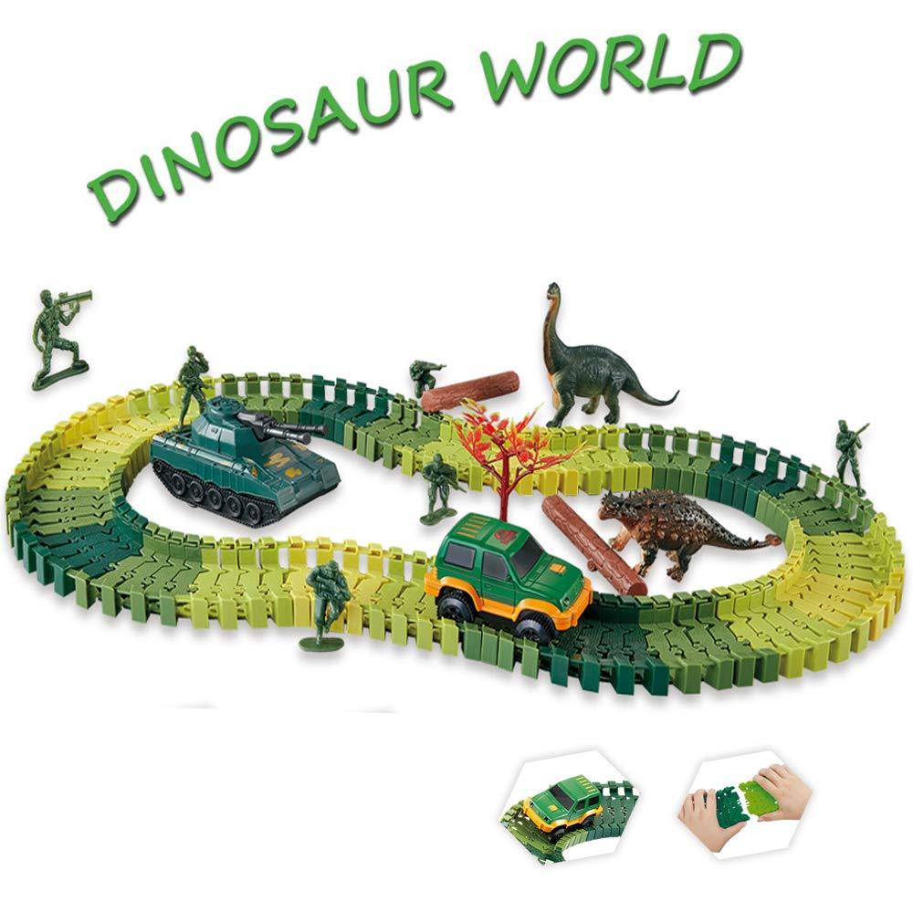 人気ブラドン レーストラックセット おもちゃ B07JK13C4N 恐竜 世界の創造 ロード96 ロード96 柔軟なトラックプレイセット おもちゃ おもちゃ 車 恐竜 兵士 タンクトップのおもちゃなど 男の子の女の子に最適なおもちゃギフト。 B07JK13C4N, fr-air株式会社:1baf349e --- a0267596.xsph.ru