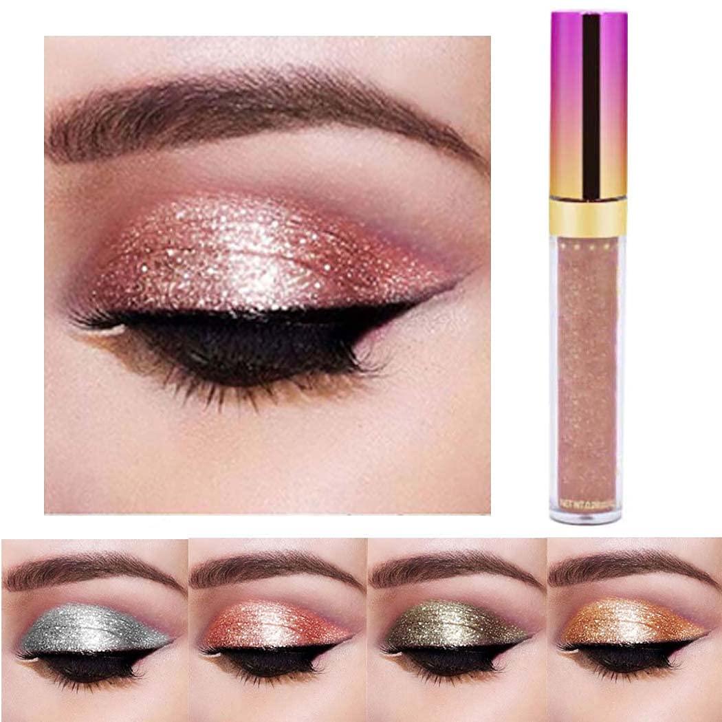 Edanta Glitter Eyeshadow Shimmer Liquid Eyeshadows Long Lasting Eye Shadow Makeup Metallic Shining Liquid Eye Make up for Women and Girls Pack of 1 (Pink 2)