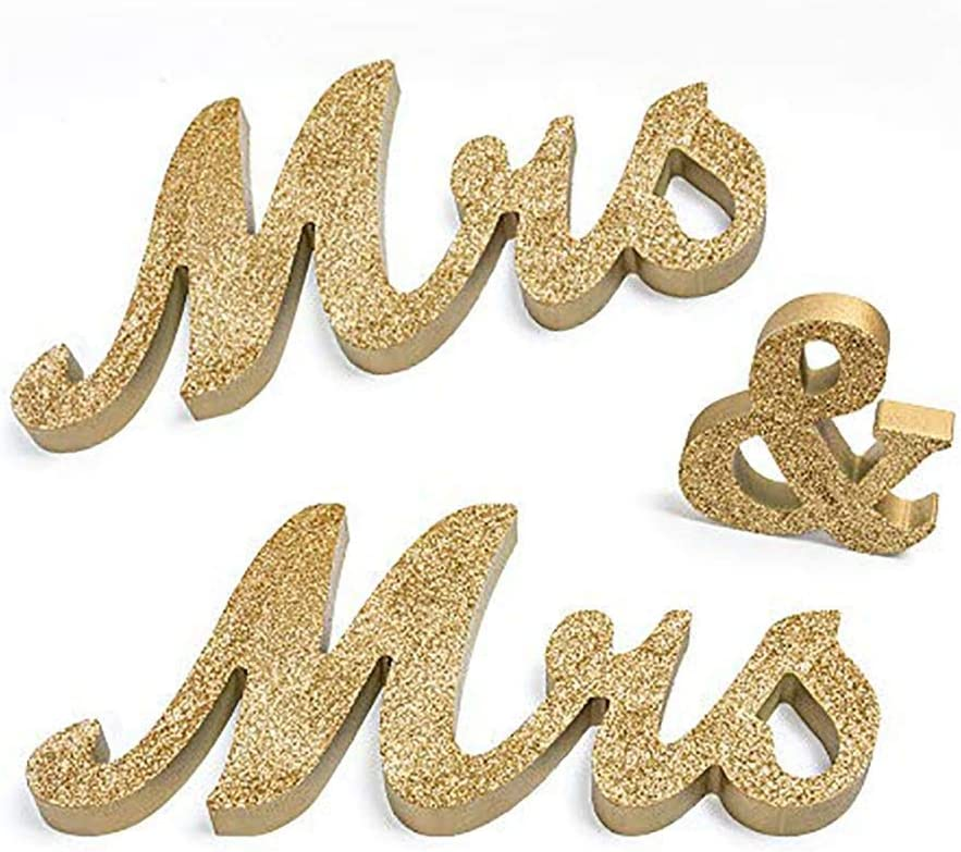 Overstep LGBT Wedding Decoration Mr&Mr/Mrs&Mrs Wooden Letters Sign Gay Couple Lesbian Couple Wedding Photo Props