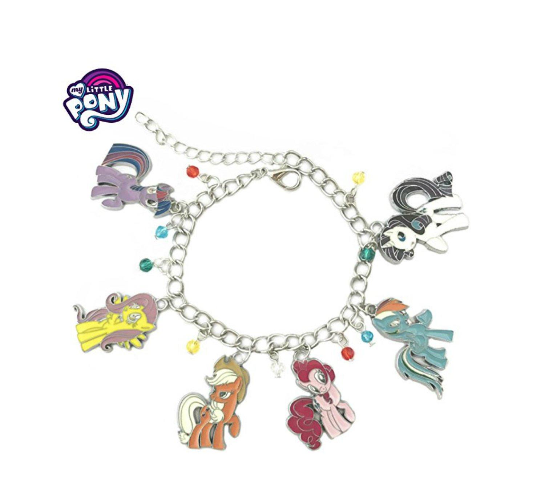 Athena Brand My Little Pony: Friendship is Magic Movie TV Theme Logo Series Charm Jewelry Bracelet w/Gift Box by