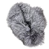 MinkgLove Fox Massage Glove, Textured and Silky Soft Feel, Natural Silver Fox Color, Hand Tailored, Unisex, One Size - Double Sided Fur