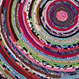 3' Colorful Round Rag Rug, Made to Order YOU Choose Colors! 3 foot Diameter, Bohemian Upcycled Handmade