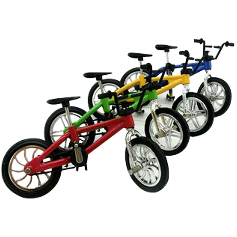 YOOKOON Set Of 5 Excellent Fuctional Finger Mountain Bike BMX Fixie Bicycle Boy Toy Game Finger Bicycle Miniature Toys For Children Boys Sports Gift (Random Color)
