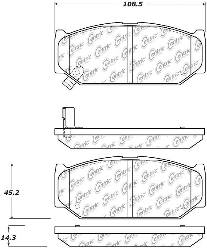 StopTech 102.16140 Brake Pad Metallic