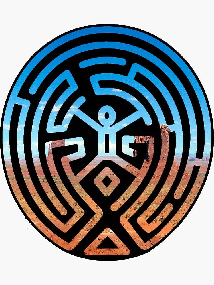 Westworld Maze Sticker - Sticker Graphic - Auto, Wall, Laptop, Cell, Truck Sticker for Windows, Cars, Trucks