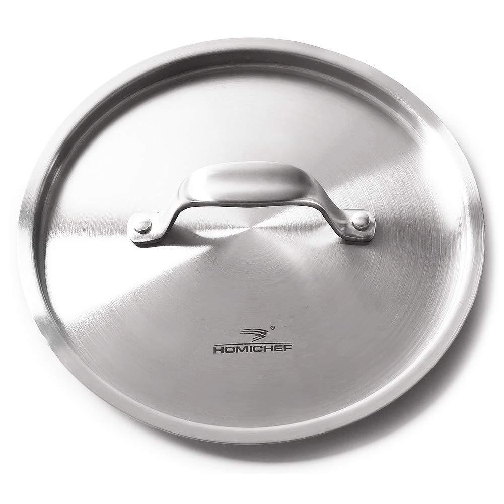 HOMICHEF - Tapa de acero inoxidable sin níquel para ollas y sartenes ...