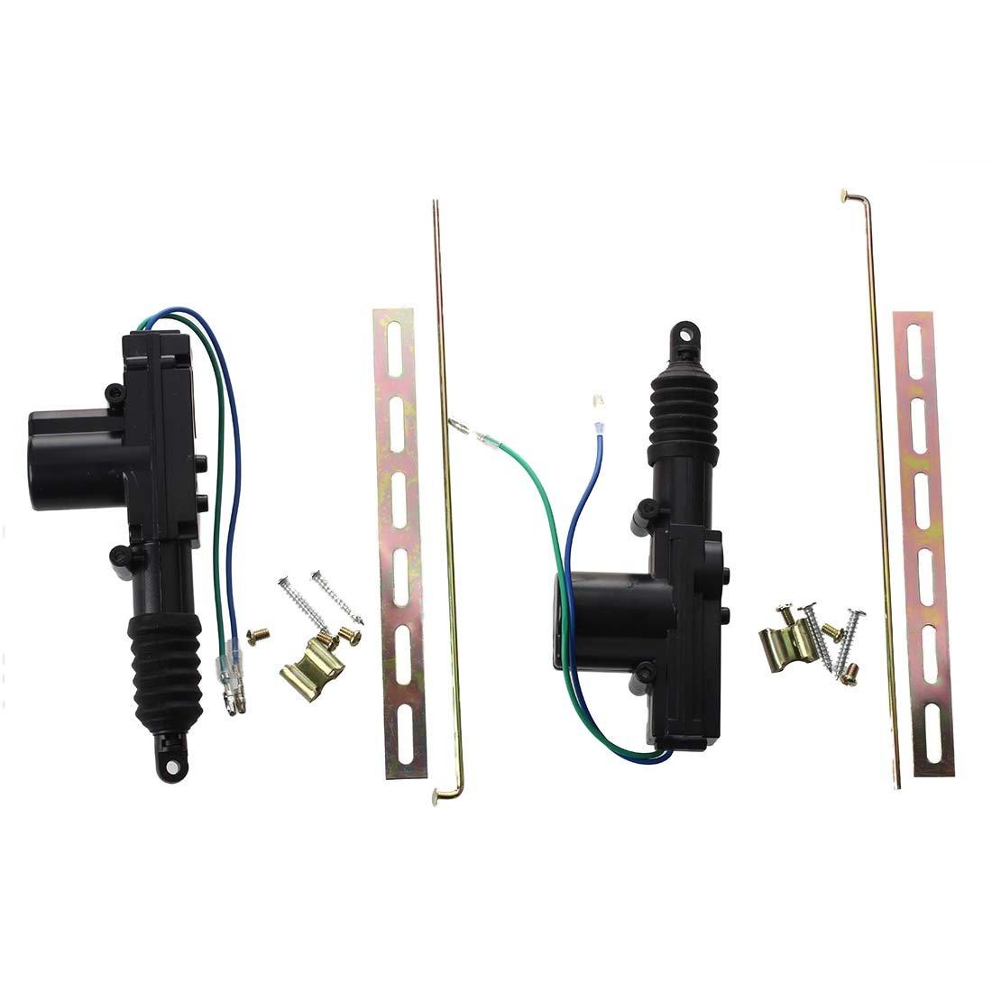 SODIAL(R) 2 Universal Heavy Duty Power Door Lock Actuator Motor 2 Wire 12V