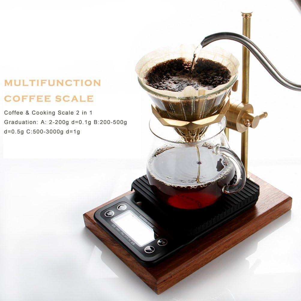 MINI V60 Coffee Drip scala con timer da cucina 0.1 G a 3000 G