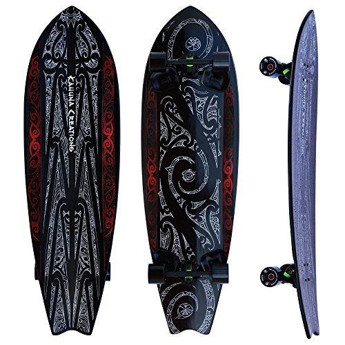 Kahuna Creations Longboard Skateboard (Kahuna Creations - Shaka Sua Longboard 46 Inch | Land Paddle Board | Black)