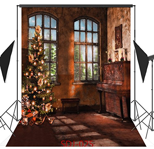 8x8ft Indoor Classic Christmas Tree & Christmas Gift Poly Fabric Photo Backdrops Customized Studio Background Studio Props (Homemade Halloween Gift Ideas)