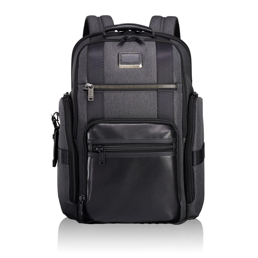 Amazon.com | Tumi Men's Alpha Bravo Sheppard Deluxe Brief Pack Business  Backpack, Anthracite, One Size | Backpacks
