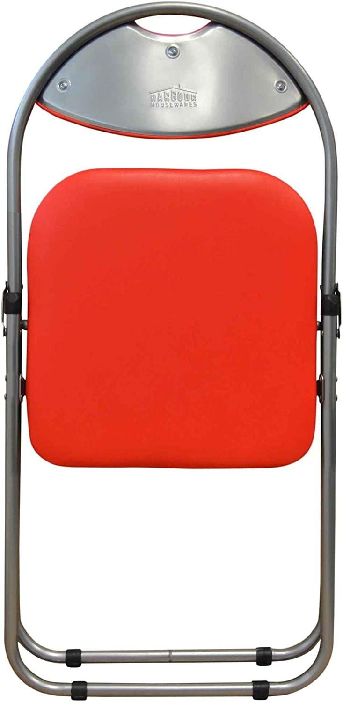 Chaise pliante rembourrée - pour le bureau - rouge - lot de 6