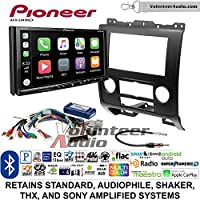 Volunteer Audio Pioneer AVH-2440NEX Double Din Radio Install Kit with Apple CarPlay, Android Auto and Bluetooth Fits 2008-2012 Ford Escape, Mazda Tribute, Mercury Mariner (Black)