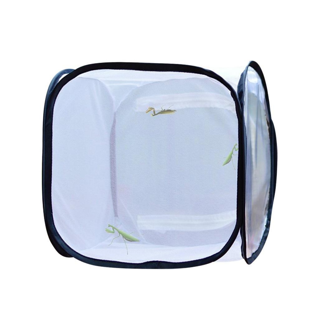 Shootingstar Schmetterlings-Kä fig zum Schutz vor Schä dlingen, faltbar, Schmetterling, Habitat Cage Terrarium Pop-up White Butterfly Net, 无