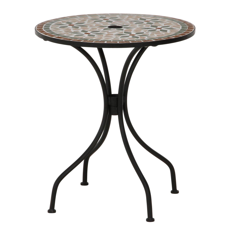 不二貿易 ガーデン モザイク柄 テーブル フラワー セラミック製 ブラウン  10657 B011L4COPW