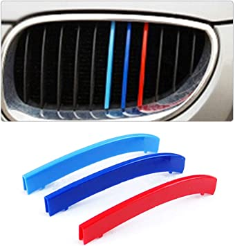 //////M-Colored Grille Insert Trims For BMW 1995-2003 E39 5 Series w//10-Beam Grill