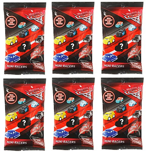 Disney Bundle of 6 Pixar Cars 3 Die-Cast Mini Racers Blind Bags 6 3, Bundle of 6 Pixar Cars 3 Die-Cast Mini Rac