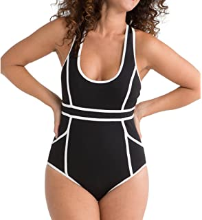 274847a7f4 SPANX Riveting Ruched Cup Sized One Piece Swimsuit at Amazon Women s ...