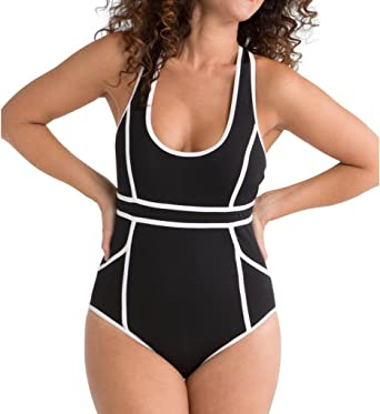 09aabcb6810d5 SPANX Hourglass Racerback One-Piece Swimsuit Bathing Suit at Amazon Women's  Clothing store: