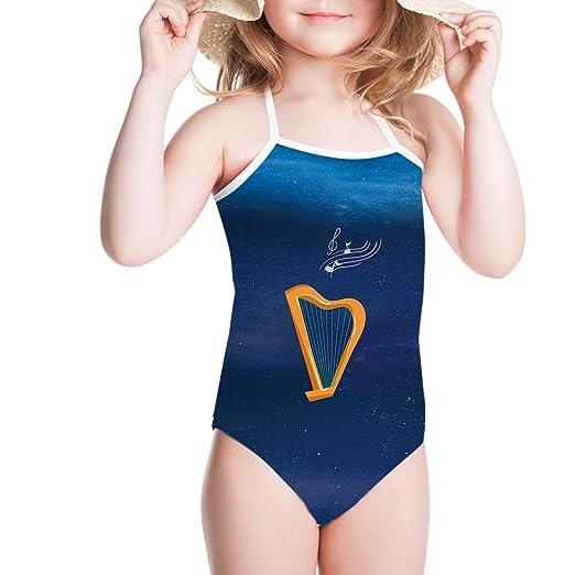 07bdda2dd1e36 Ertyz Harp Girl Swimwear Stripped One Piece Swimsuit Plus Size Surf-wear (3-