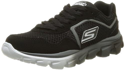 Skechers GOrun RideSupreme - Zapatillas de material sintético para niño, negro (BKRD), 29