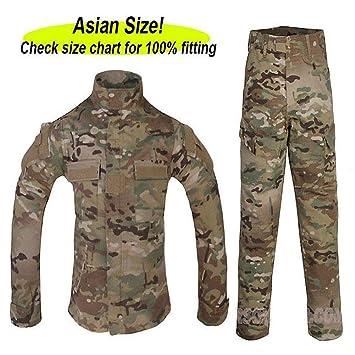 470c81e7cace6 Worldshopping4U Tactical Airsoft Kids Children BDU Hunting Combat Uniform  Shirt & Pants Suit MC (14Y