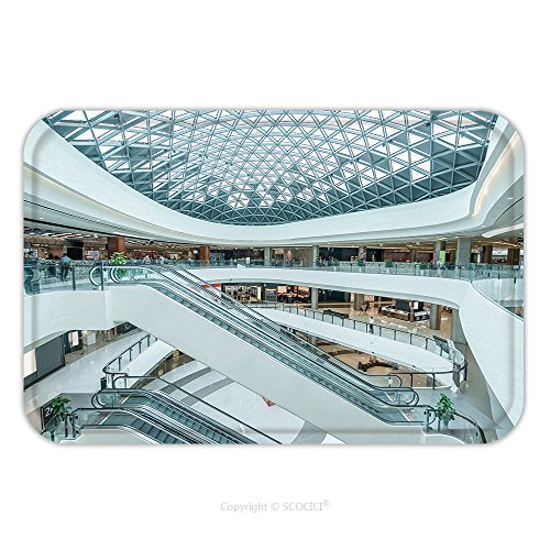 Flannel Microfiber Non-slip Rubber Backing Soft Absorbent Doormat Mat Rug Carpet Interior Of Modern Shopping Mall 343794929 for - Overland Mall