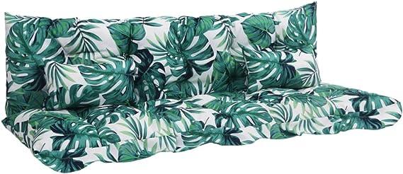 vidaXL 4X Cojines para Balancín Casa Jardín Terraza Piscina Decoración Diseño Estilo Almohadilla Almohadón Columpio Mecedora Butaca Hamaca Tela Verde: Amazon.es: Hogar