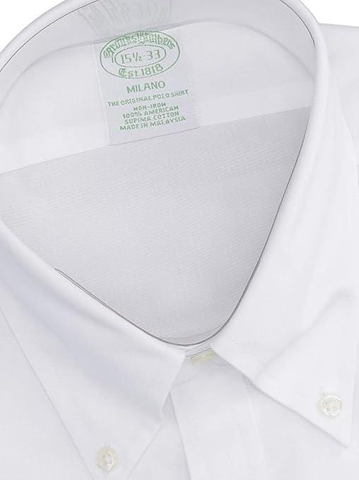 BROOKS BROTHERS Mod. 146671 Camisa Milano Popelina Non-Iron ...