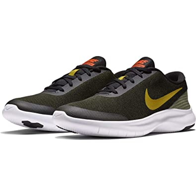 86aceec1f5 NIKE Men s Black Olive Flex Experience RN7 Running Shoes (908985 015) - 10