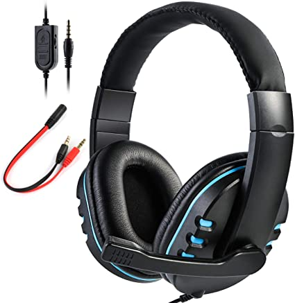 SOONHUA Gaming Headset Mic Stereo Surround Headphone 3.5mm Wired For PS4 Xbox PC Xboxone