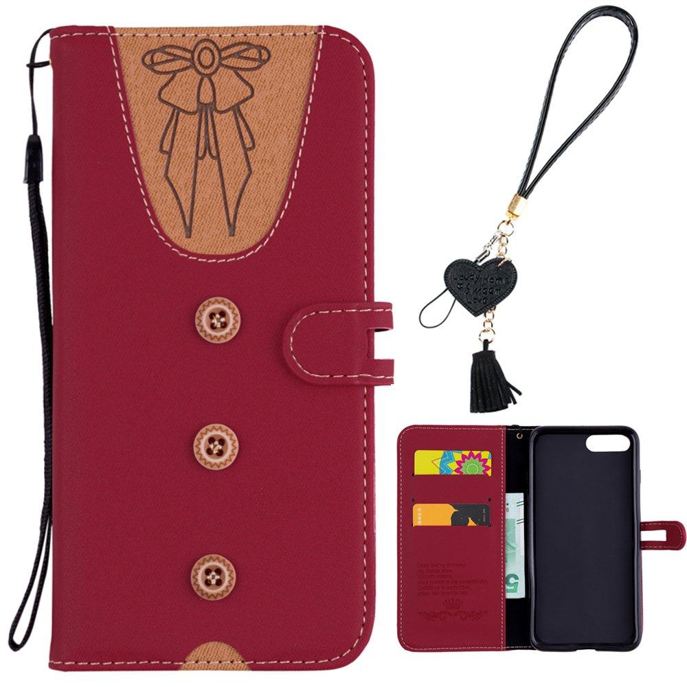 iPhone 6S Tasche iPhone 6S Flip Case Edaroo Cute Design Grau PU Leder Kunstleder Flip Case mit ID Kreditkarten Magnetverschluss Stand Fuction Schutzh/ülle Handytasche f/ür iPhone 6S//6 4.7