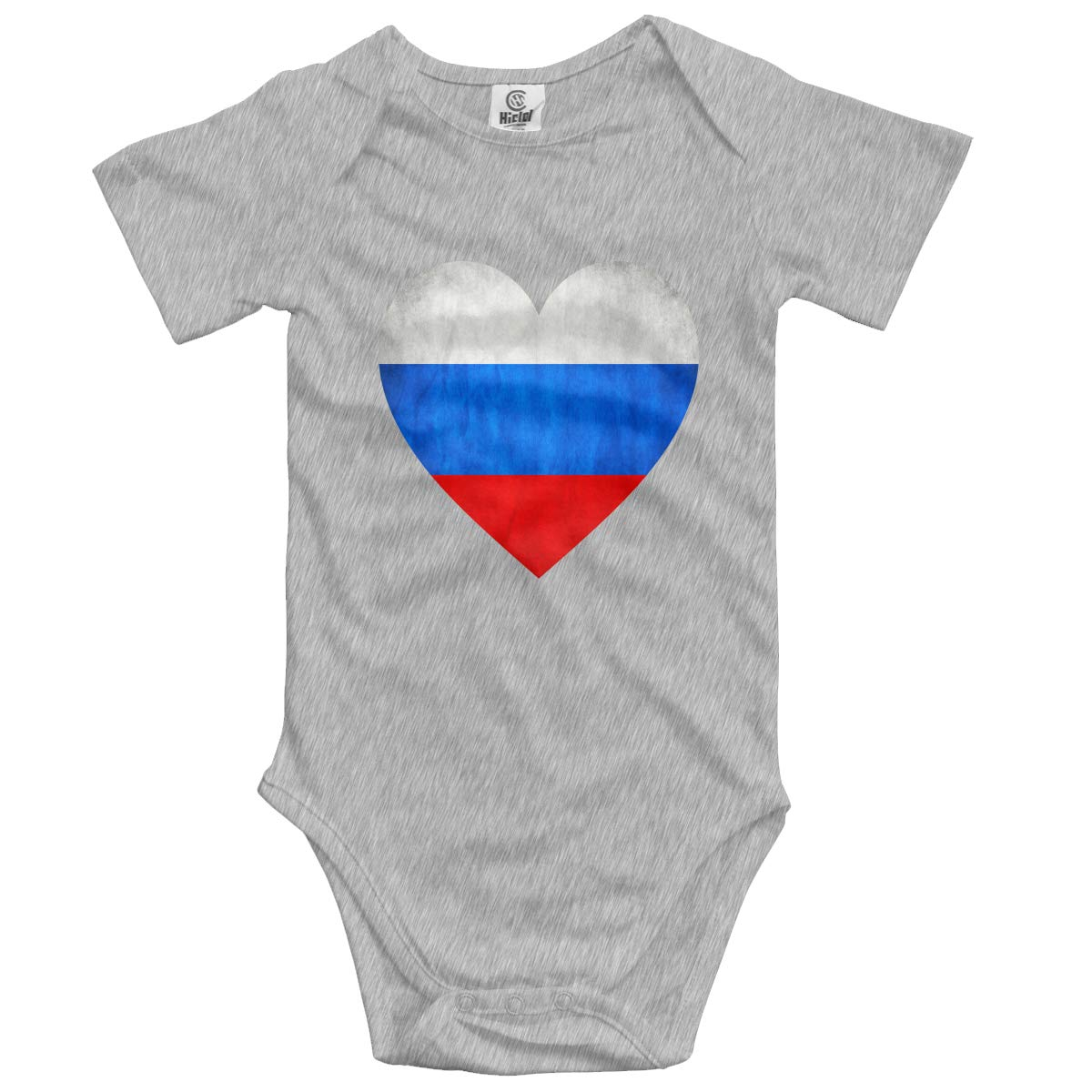 CUTEDWARF Baby Short-Sleeve Onesies Love Vintage Russian Flag Bodysuit Baby Outfits