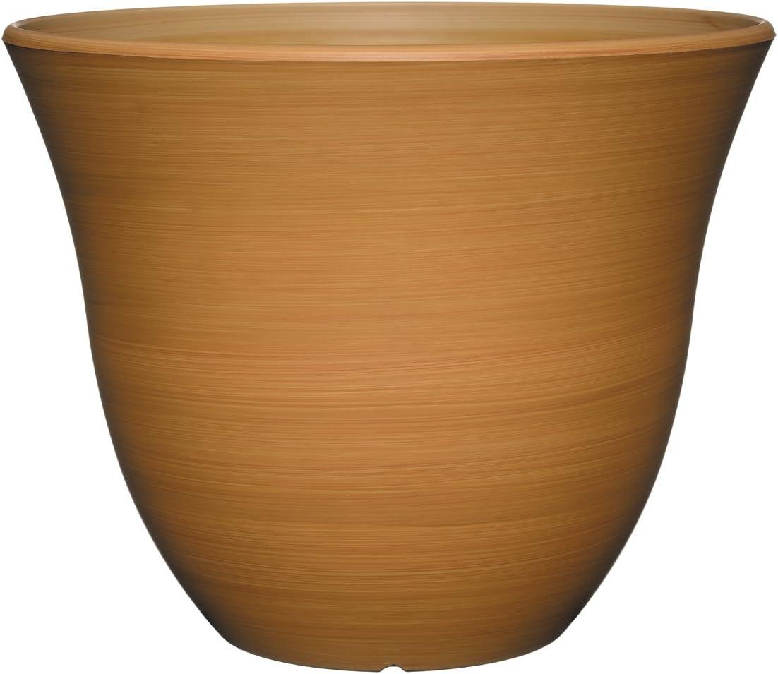 "Classic Home and Garden Honeysuckle Planter, Patio Pot, 13"" Bamboo"
