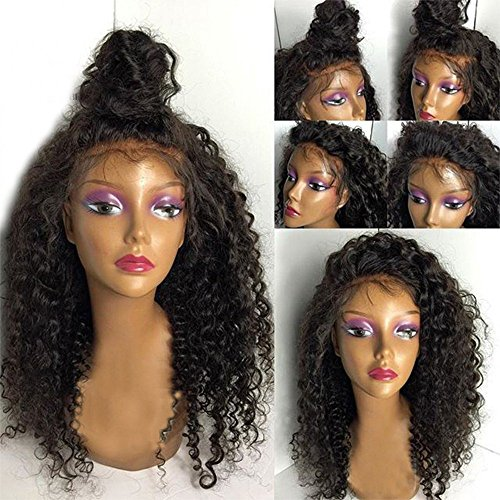 Eversilky Hair Deep Curly Brazilian Lace Front Wig Virgin Hair Glueless Lace Front Human Hair Wigs with Baby Hair Lace Front Wigs for Black Women 16 Inches by Eversilky Hair (Image #2)