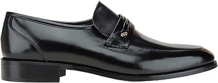 Seva 1020 Zapato Mocasín Ancho Especial Hombre Vestir y Ceremonia Ancho 10 Piso Cuero Suela