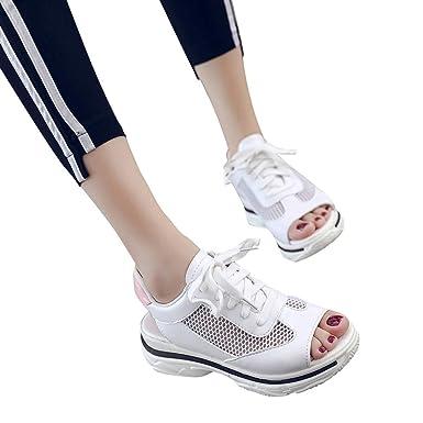 87d52146d6a Memela Clearance sale Women Sandals Casual Breathable Lace Up Platforms  Peep Toe Sandals Shoes Wedges Sneakers