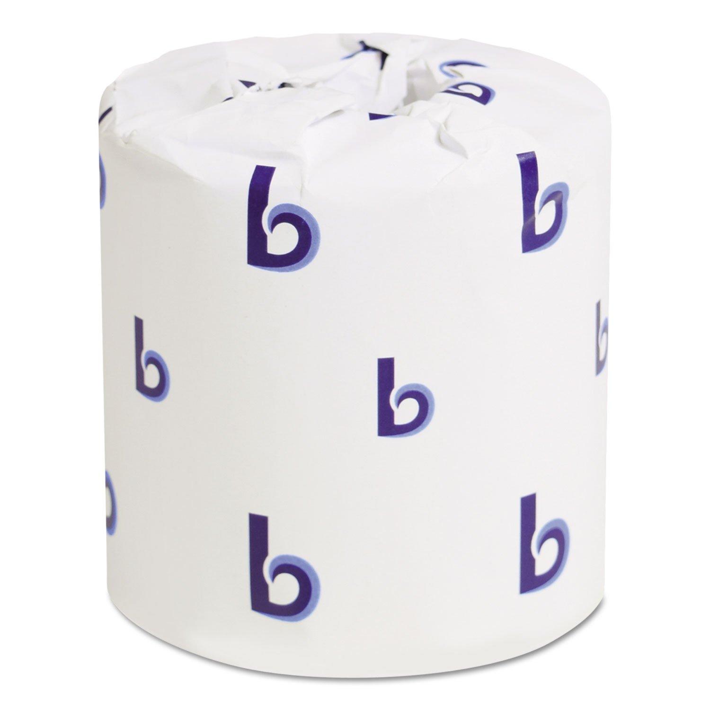 Boardwalk 6145 Bathroom Tissue, Standard, 2-Ply, White, 4 X 3 Sheet, 500 Sheets/roll, 96/Carton by Boardwalk