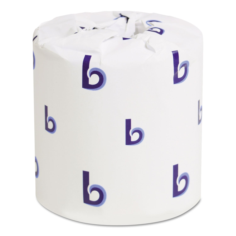 Boardwalk 6145 Bathroom Tissue, Standard, 2-Ply, White, 4 X 3 Sheet, 500 Sheets/roll, 96/Carton