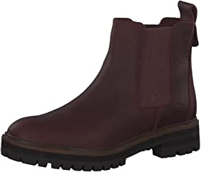 retrasar Irradiar Ventilar  Amazon.com | Timberland Women's London Square Burgundy Chelsea Boot 38 Dark  Port Mincio | Ankle & Bootie