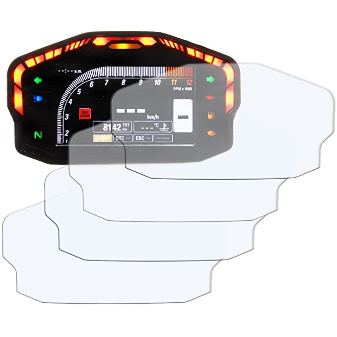 Speedo Anti Reflexi/ón Tacho Protector de pantalla Speedo-Angels 3 x YAMAHA MT-09 900 TRACER Veloc/ímetro