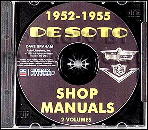 COMPLETE 1952 1953 1954 1955 DeSOTO REPAIR SHOP & SERVICE MANUAL & BODY MANUAL CD INCLUDES: Firedome S-16, Powermaster S-18, sedan, club coupe, S-19, S-20, S-21, and S-22, Fireflite, Sportsman, ()