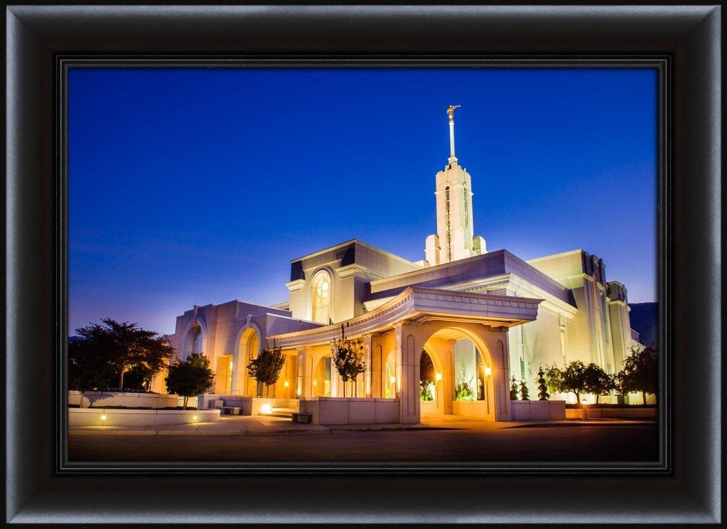 Amazon.com: LDS (Mormon) 26.75 x 36.75 Framed Mt Timpanogos Temple ...