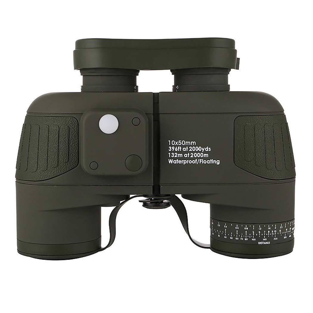 WQ 10×50軍用マリン双眼鏡防水ナイトビジョン双眼鏡、サッカーサファリを見て鳥を見て登山ハイキングなど、アダルト双眼鏡 B07RXTPCP1 A
