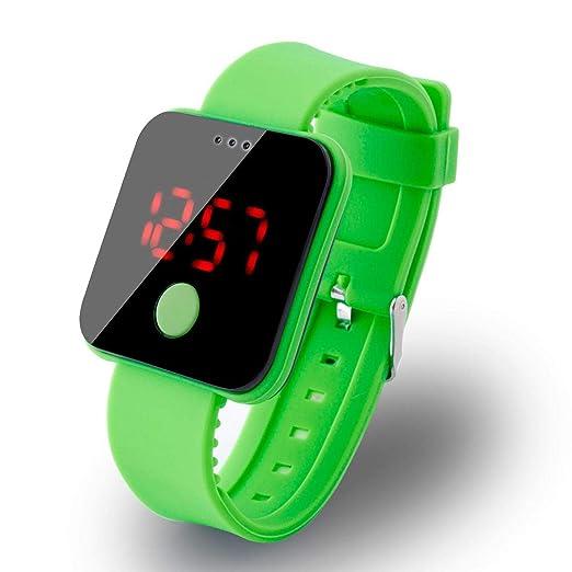 Elegante Reloj Deportivo Reloj Pulsera para Unisex LED Digital Pantalla Reloj Moda LED Silicona Pulsera Reloj Digital LED Reloj: Amazon.es: Relojes